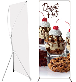 Stand /& Graphic Graphic Print Personalized Grasshopper Banner Stand x 79 in Medium with 32 in