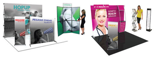 Trade show, exhibit and display products